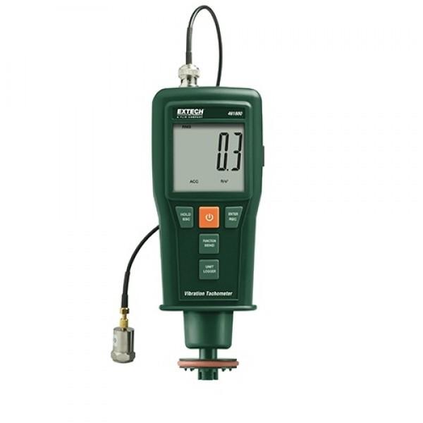 Extech 461880:Vibration Meter + Laser/Contact Tachometer