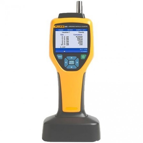 Fluke 985 Particle Counter delivers high accuracy, lightweight, rugged device