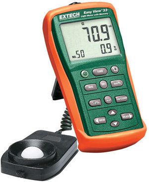 Extech EA33 EasyView™ Light Meter with Memory